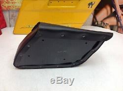 04-20 Harley Sportster Single-Sided Swingarm Bag Black Bar&Shield