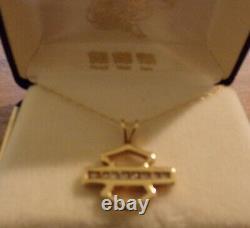 10k Gold Harley Davidson Bar & Shield Diamond Necklace