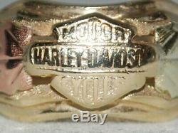 10k Gold ring with a Harley Davidson Bar and Shield Black Hills design