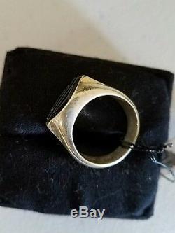 #133 NEW Harley-Davidson sterling silver ring, black bar and shield, MOD sz 10