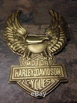 15 Large Brass Eagle Bar and Shield Harley Davidson Motor Cycles Wall Hanging