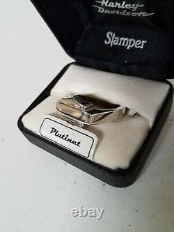 #81 NEW Harley-Davidson ring, Platinet by Stamper, size 12, bar and shield