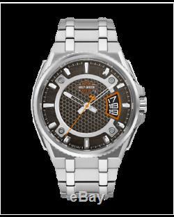 BRAND NEW Bulova Men's Harley-Davidson Bar+Shield Logo Silver Watch 76B180