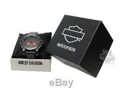 BRAND NEW Bulova Men's Harley-Davidson Men's Ghost Bar & Shield Watch 76B163