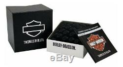 BRAND NEW Bulova Men's Harley-Davidson Open Bar & Shield Silver Watch 76B182