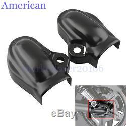 Black Bar & Shield Rear Axle Covers swingarm For Harley VRSC V-Rod VRSCA 2002-17