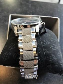 Bulova Mens Harley-Davidson Stainless Steel Watch Bar & Shield