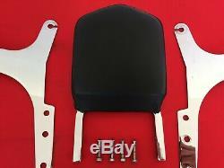 Genuine 1982-1994 Harley Fxr Bar & Shield Backrest Sissy Bar Pad + Luggage Rack