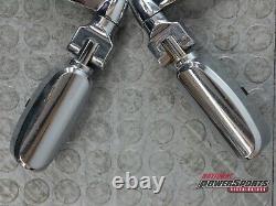Genuine Harley Davidson Bar & Shield Highway Pegs + 360° Adjustable Mounts