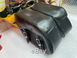 Genuine Harley OEM Bar & Shield Dyna FXD FXDL Genuine Leather Saddlebags