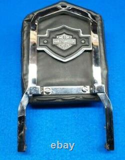 Genuine Harley Sportster Dyna FXR 12 Backrest Sissy Bar & Shield & Pad 1982-03