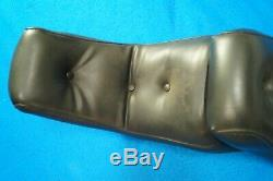 Genuine Mustang Harley FXWG King Queen Seat with Bar & Shield Sissy Bar 80-86
