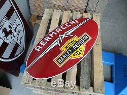 HARLEY DAVIDSON XXL Garage Bar & Logo Dealership Porcelain Enamel Sign Shield
