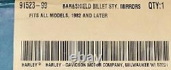 HARLEY Original BAR & Shield Billet Style Mirror Mirrors Kit