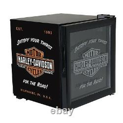 HD Harley Davidson Bar & Shield Beverage HD Chiller Fridge with Free Shipping
