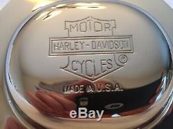 Harley Bar & Shield Nostalgic Derby Cover Heritage Springer FLSTS Show Chrome