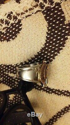 Harley-Davidson 10K Gold Eagle Biker Ring Steel Shank Bar & Shield Logo Size 7