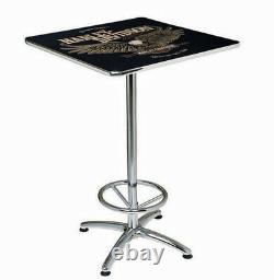 Harley-Davidson 41 Bar & Shield Eagle Square Acrylic Top Cafe Table HDL-12327