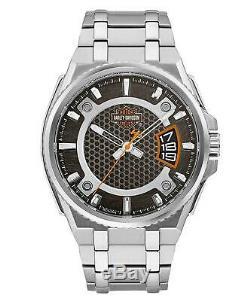 Harley Davidson 76B180 Men's Bar & Shield Dimensional Steel Watch RRP £199.00