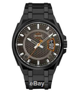 Harley Davidson 78B151 Men's Bar & Shield Dimensional Steel Watch RRP £259.00