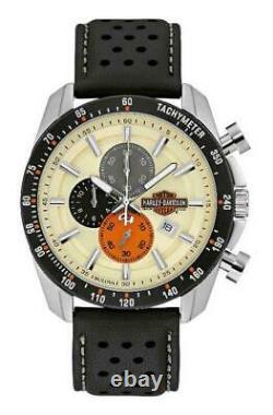 Harley Davidson 78B154 Men's Bar & Shield S/Steel Chrono Watch RRP £229.00