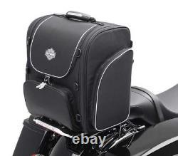 Harley Davidson 93300004 Bar & Shield Zippered Touring Luggage Bag Black