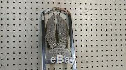 Harley Davidson AMF era Chrome Sissy Bar Upright Shield and Wings Chopper