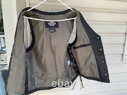 Harley Davidson Bar And Shield Wings Vest Men Large Nice Relic