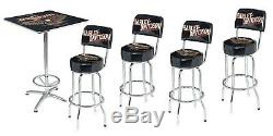 Harley-Davidson Bar & Shield Eagle Cafe Table & 4 Swivel Bar Stool Set HDL-12327