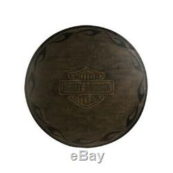 Harley Davidson Bar & Shield Flames Poker Table Vintage Black Finish