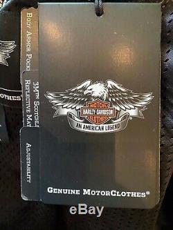 Harley Davidson Bar & Shield Flames Ride Ready Mesh Jacket 98304-10VM Size 4XL