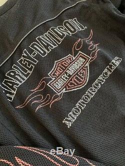 Harley Davidson Bar & Shield Flames Ride Ready Mesh Jacket 98304-10VM Size Small