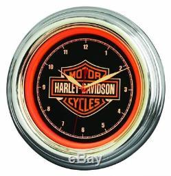 Harley-Davidson Bar & Shield LED Wanduhr 230V 12V HDL-16634