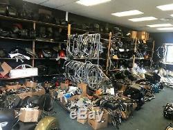 Harley Davidson Bar & Shield Leather Saddlebags For Dyna Models