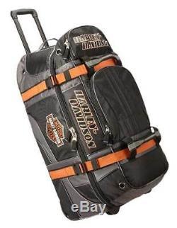 Harley-Davidson Bar & Shield Logo 22 Carry-On Wheeling Duffel Bag 99415-BLACK