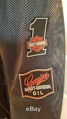 Harley-Davidson Bar & Shield Logo Mesh Riding Black Armored Jacket Large
