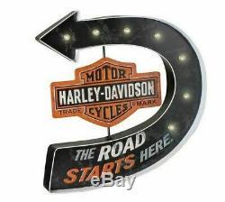 Harley-Davidson Bar & Shield Marquee HDL-15519 LED Metallschild Pub Batterie