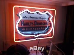 Harley-Davidson Bar & Shield Neon Every mans cave must have, great price! Dope