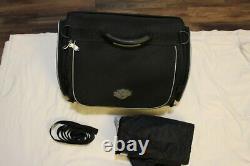 Harley-Davidson Bar & Shield Overnight Luggage Bag Black Nylon & rain cover