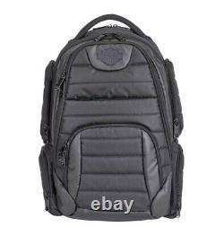 Harley Davidson Bar & Shield Quilted Backpack-Organized & Padded 99319 BLACK