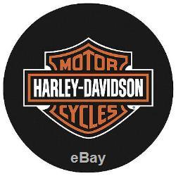 Harley-Davidson Bar & Shield Steel Chrome Frame Logo Round Bar Table 41in. H