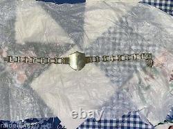 Harley Davidson Bar & Shield Sterling Silver Chain Link Biker Bracelet 46 gr EUC