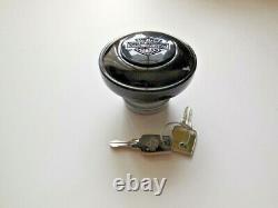 Harley Davidson Bar & Shield Tankdeckel schwarzglänzend abschließbar 61100117A
