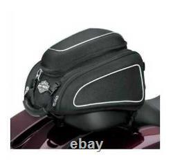 Harley-Davidson Bar & Shield Zippered Tail Bag Reflective Piping Black 93300069