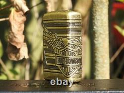 Harley Davidson Bar and Shield Eagle Wings Zippo Lighter Limited Edition Armor