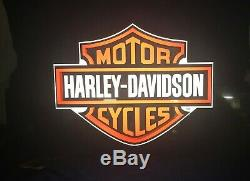 Harley Davidson Bar and Shield Lighted Sign from Las Vegas Casino Slot Machine