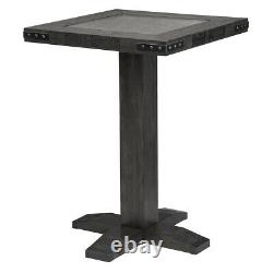 Harley-Davidson Bar and Shield Square Pub Table & 2 Square Stools Industrial G