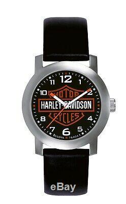 Harley-Davidson Bulova Chicago Bar & Shield Herren Armbanduhr, Schwarz