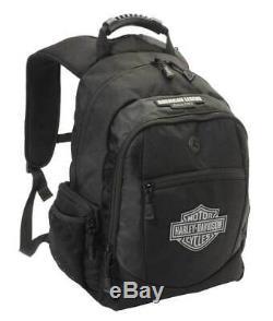 Harley-Davidson Classic Bar & Shield Black Backpack Bag (12x17.75x7) BP1932S
