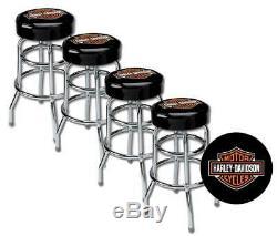 Harley-Davidson Classic Bar & Shield Logo Bar Stool HDL-12116A SET OF 4